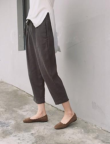 Dámské Kalhoty chinos Kalhoty Volné Mid Rise Jednobarevné