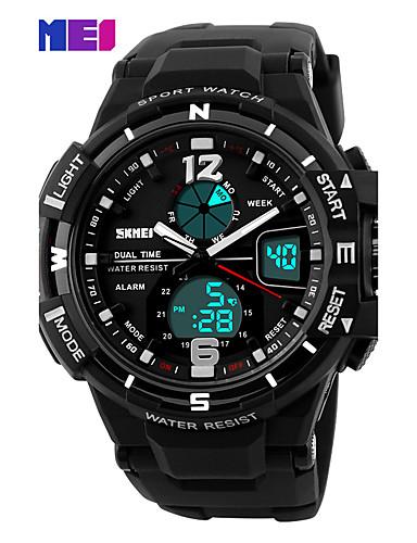 Herrn Kleideruhr Smart Watch Modeuhr Armbanduhr Chinesisch digital Kalender Chronograph Duale Zeitzonen Nachts leuchtend Großes