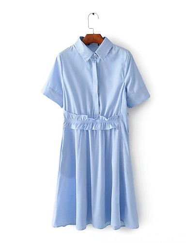Women's Going out Daily Simple Cute Street chic Loose Shirt Dress