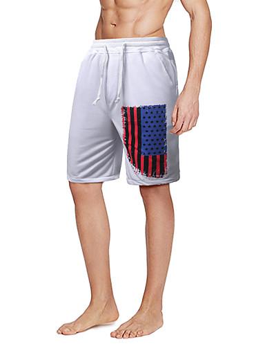 Homens Temática Asiática Justas/Skinny Shorts Calças Estampado