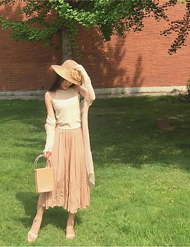Damen Ausgehen Midi Röcke Trompete/Meerjungfrau einfarbig Sommer