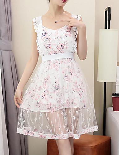 Damen Blumen Kleider Röcke Floral Design Geburtstag Alltag Party Bluse Rock Anzüge Frühling Sommer Ärmellos Mikro-elastisch
