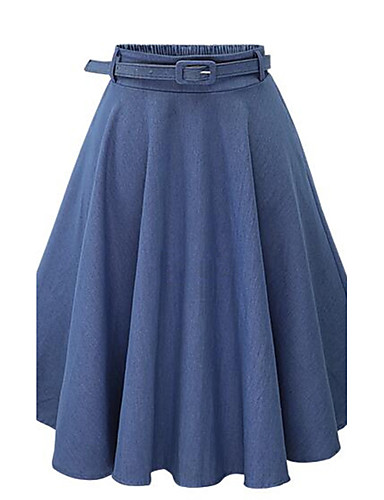 Women's Street chic A Line Skirts - Solid Colored