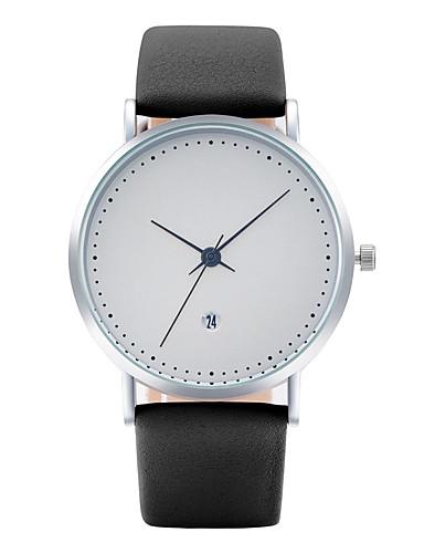 Herrn Armbanduhr Modeuhr Armbanduhren für den Alltag Chinesisch Quartz Kalender PU Band Freizeit Elegant Cool Schwarz Blau Grau