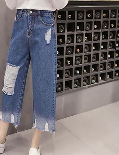 Dámské Šik ven Mikro elastické Široké nohavice Kalhoty Volné Široké nohavice Mid Rise Barevné bloky