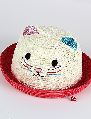 Kinder Hüte & Kappen Gestrickt Rote Rosa Gelb Fuchsia Khaki