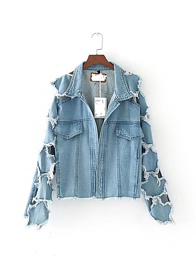 Women's Sports Going out Casual Spring Fall Denim Jacket