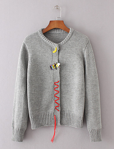 Women's Going out Daily Casual Cute Street chic Regular Cardigan