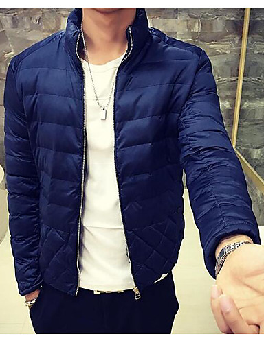 Men's Padded Coat,Simple Active Daily Casual Solid-Cotton Polyester Cotton Long Sleeves