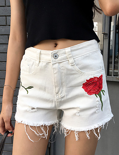 Women's Casual Slim / Shorts Pants - Solid Colored / Summer