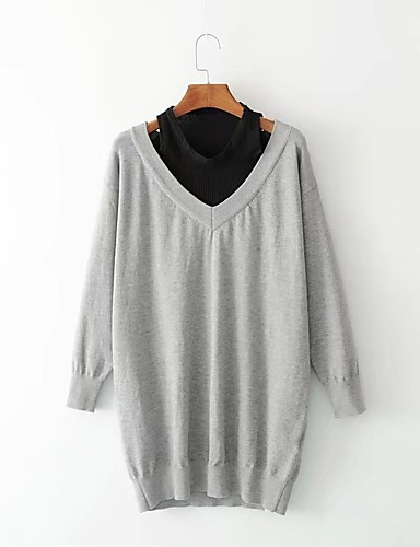 Women's Holiday Going out Daily Simple Street chic Loose Sweater Dress