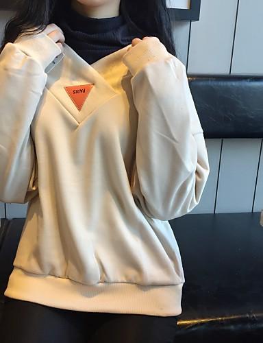 Naiset Päivittäin Muoti College Yhtenäinen Puhdas väri Polyesteri 100% puuvillaa strenchy Pitkähihainen Kevät Syksy