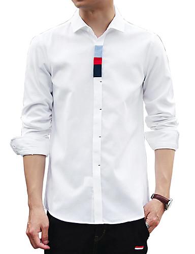 Men's Club Vintage Plus Size Cotton Shirt - Solid Striped Rainbow