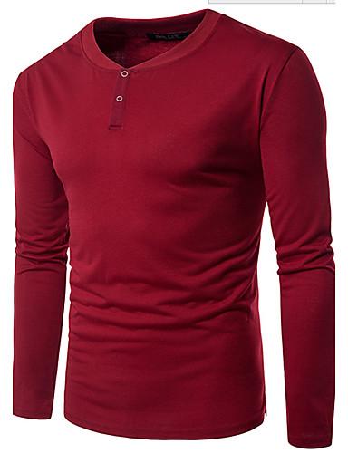 Men's Cotton T-shirt - Check Round Neck