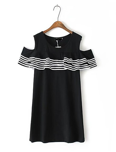 Women's Holiday Going out Daily Sexy Simple Street chic Loose Skater Dress
