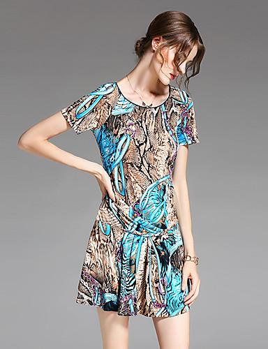 Women's Vintage Sophisticated A Line Sheath Dress Print