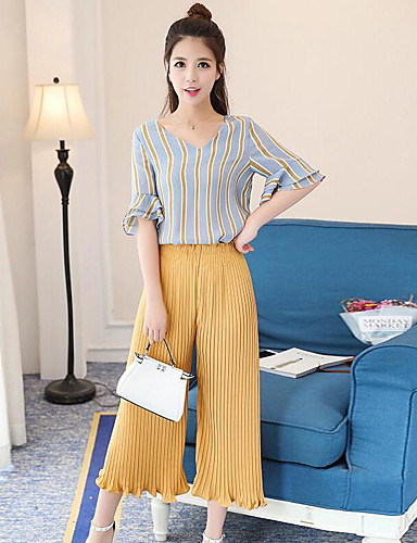 Women's Daily Casual Spring Summer Fall Shirt Pant Suits