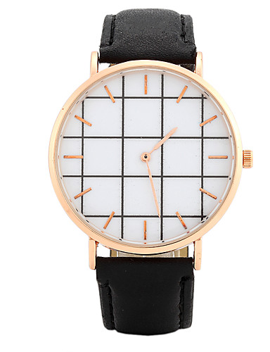 Women's Quartz Wrist Watch Chinese / PU Band Candy color Casual Elegant Fashion Black White Pink