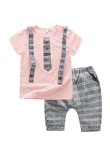 Boys' Print Sets,Cotton Modal Acrylic Summer Short Sleeve Clothing Set