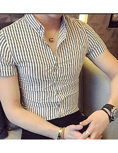 Men's Going out Daily Street chic Summer Shirt