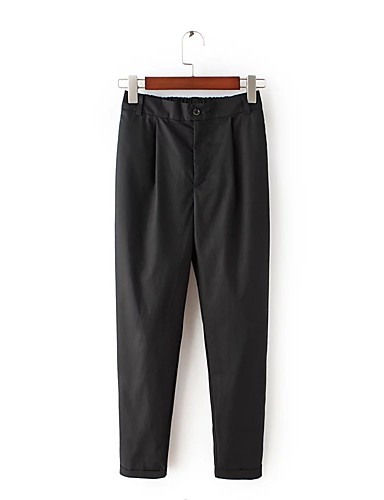 Women's Mid Rise strenchy Skinny Pants,Street chic Slim Pure Color Solid
