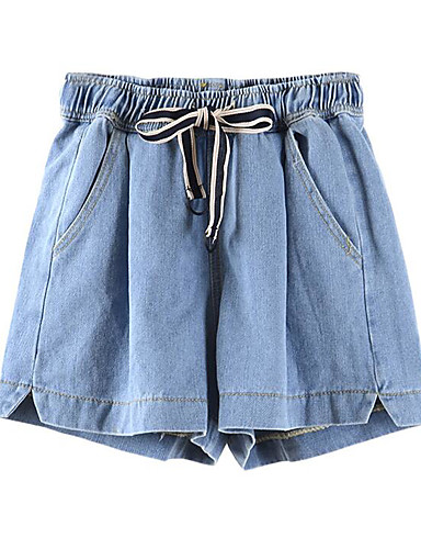 Women's High Rise Inelastic Shorts Pants,Simple Wide Leg Solid