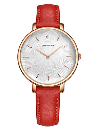 Women's Fashion Watch Japanese Quartz Water Resistant / Water Proof Leather Band Red Brown Grey