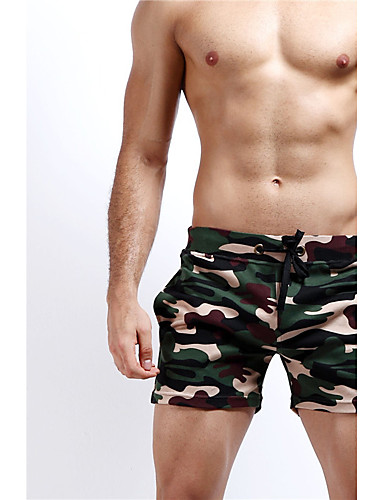 Men's Sporty Bottoms - Camouflage Print Board Shorts