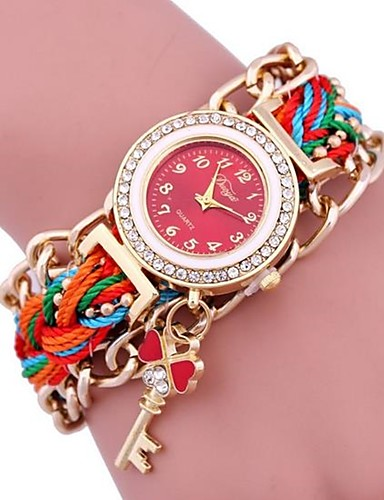 Women's Bracelet Watch Digital Metal Band Black White Blue Red Green Pink