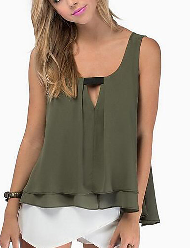 Women's Going out Street chic Tank Top - Solid Colored Racerback / Spring / Summer