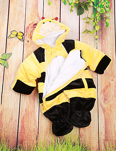 Baby Children's New Baby Casual/Daily Baby Shower Cartoon Image One-Pieces, Cotton All Seasons Cartoon Yellow