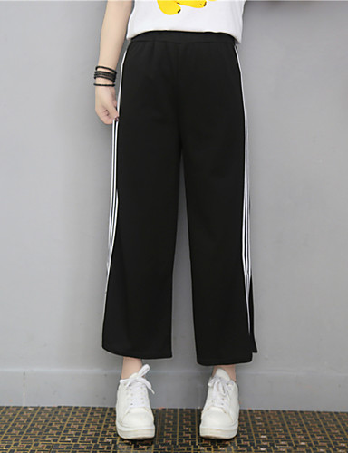 Women's Mid Rise Inelastic Chinos Pants,Simple Relaxed Solid