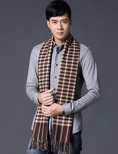 Men Imitation Cashmere Rectangle Solid Winter Fall/Autumn