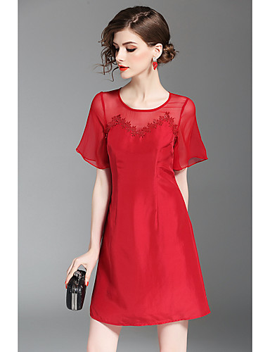 Women's Party Going out Casual A Line Sheath Dress