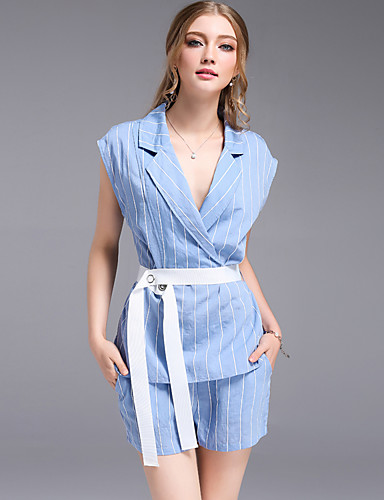 Women's Daily Work Casual Summer Tank Top Pant Suits