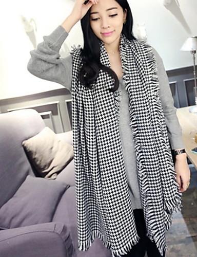 Women's Imitation Cashmere Rectangle - Plaid