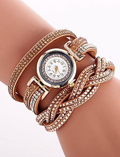 Mulheres Quartzo Bracele Relógio Venda imperdível PU Banda Amuleto Luxo Vintage Criativo Casual Relógio Criativo Único Elegant Fashion