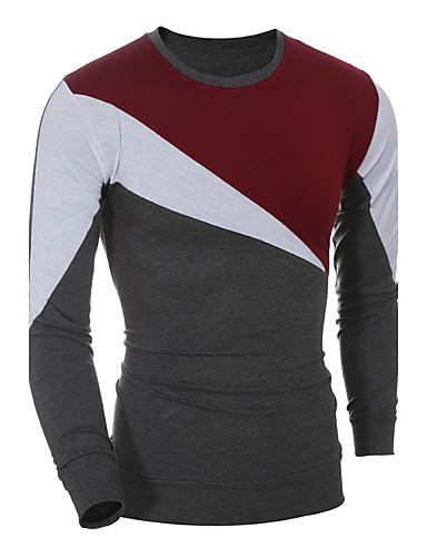 Homens Camiseta - Esportes Moda de Rua Estampa Colorida Decote Redondo