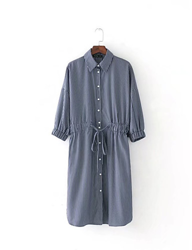 Women's Going out Daily Simple Street chic Loose Shirt Dress