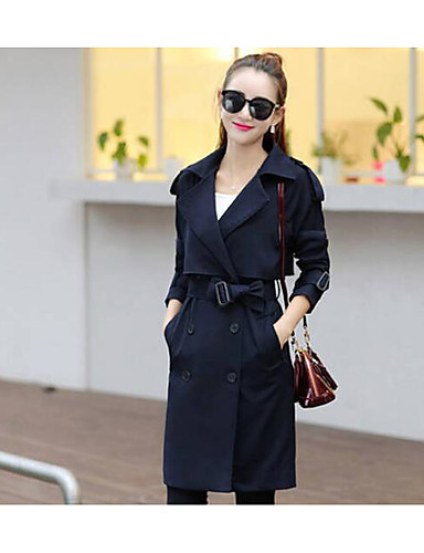 Women's Daily Casual Spring Trench Coat