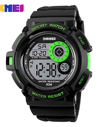 SKMEI Men's Sport Watch / Wrist Watch / Digital Watch Hot Sale PU Band Charm / Fashion Black
