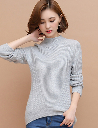 Women's Daily Work Regular Pullover