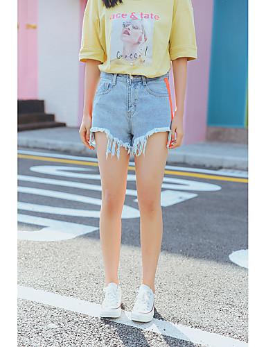 Women's High Rise Micro-elastic Shorts Pants,Boho Loose Solid