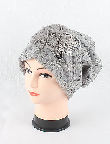Women's Cotton Lace Beanie/Slouchy Floppy Hat,Headwear Cute Casual Chic & Modern Casual/Daily Hats Knitwear Jacquard Spring Fall Lace