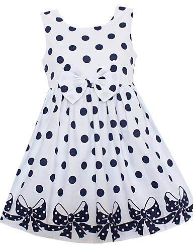 Girl's Polka Dot Dress,Cotton Spring Summer Sleeveless
