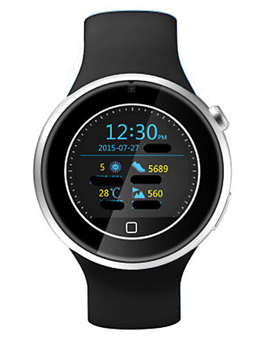 Men's Smart Watch Fashion Watch Digital Water Resistant / Water Proof Rubber Band Black White Blue Green