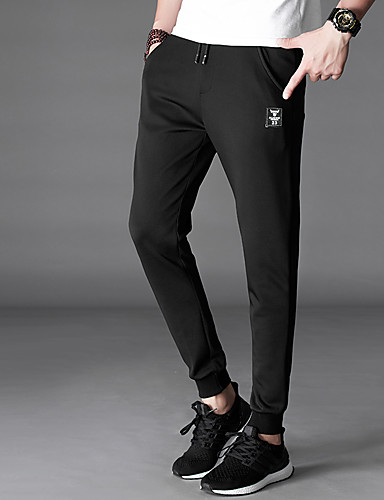 Men's Mid Rise Micro-elastic Skinny Slim Chinos Pants,Casual Solid Cotton Polyester All Seasons