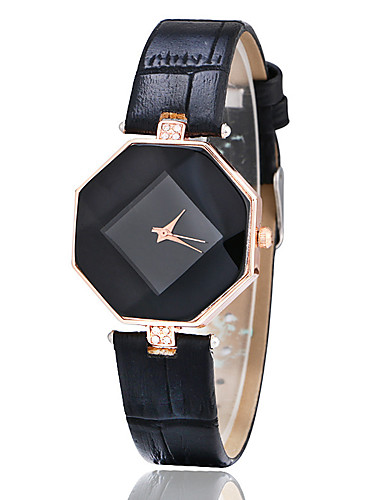 Women's Wrist Watch Creative / Imitation Diamond Leather Band Casual / Fashion Black / White / Blue / One Year / Tianqiu 377