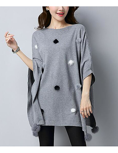 Women's Short Sleeves Long Pullover - Solid