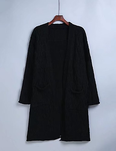 Women's Daily Going out Casual Long Cardigan